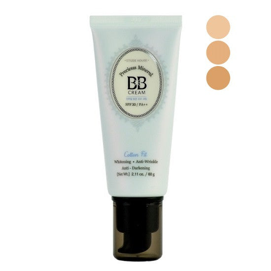 Etude House - Precious Mineral BB Cream Cotton Fit SPF30 PA++ | Chuusi | Shop Korean and Taiwanese Cosmetics & Skincare at Chuusi.ca - 1