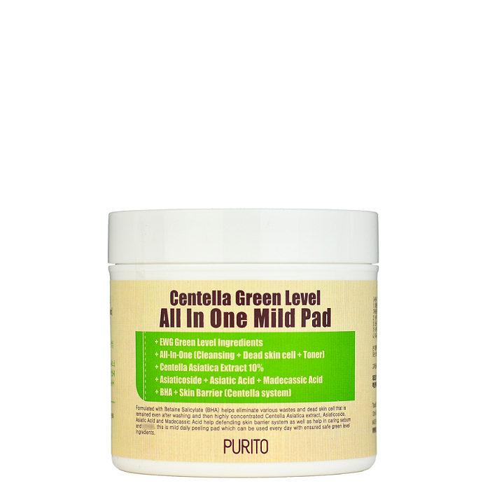 Purito Centella Green Level All In One Mild Pad -- Shop Korean Japanese Taiwanese skincare in Canada & USA at Chuusi.ca