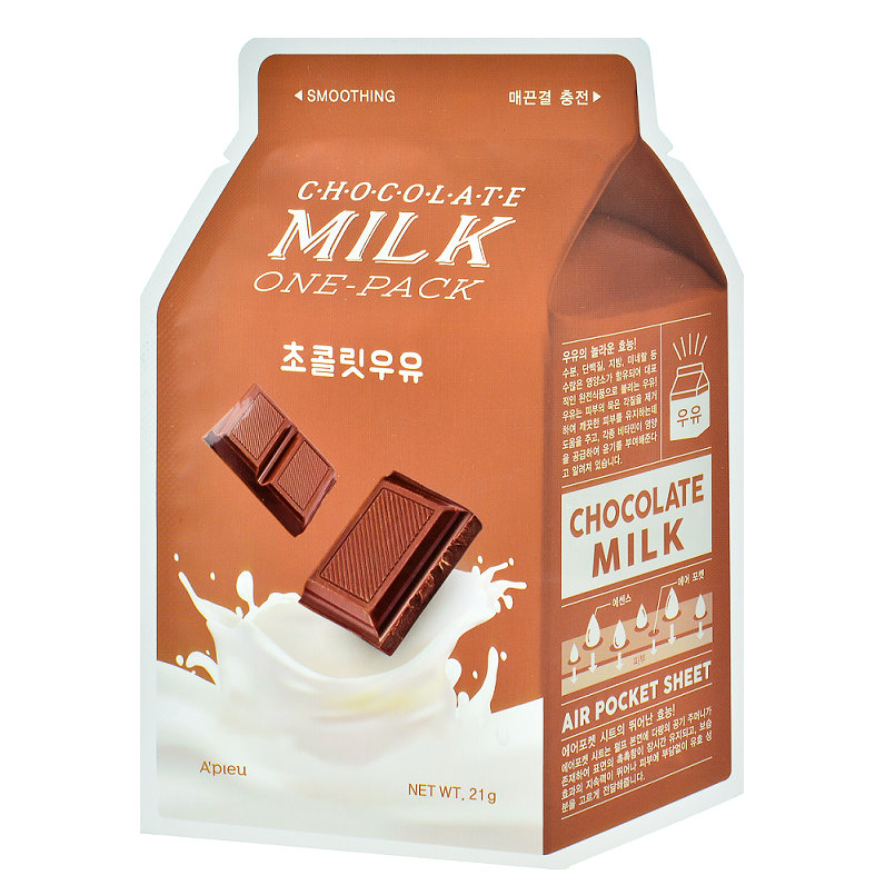 A'PIEU Chocolate Milk One-Pack | Shop Korean sheet masks in Canada & USA at Chuusi.ca