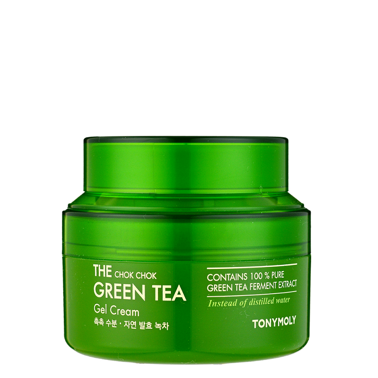 TONY MOLY The Chok Chok Green Tea Gel Cream -- Shop Korean Japanese Taiwanese Skincare in Canada & USA at Chuusi.ca