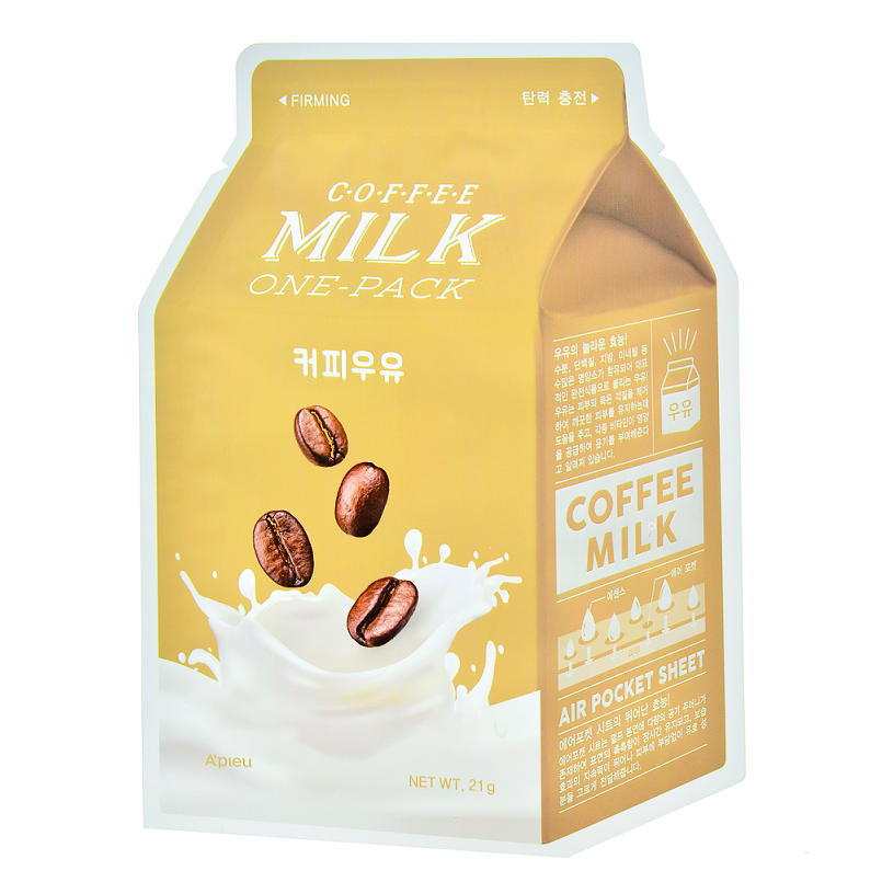 A'PIEU Coffee Milk One-Pack | Shop Korean sheet masks in Canada & USA at Chuusi.ca