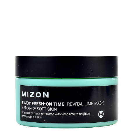 MIZON Enjoy Fresh-On Time Revital Lime Mask | Shop Chuusi Korean Skincare Cosmetics Canada & USA