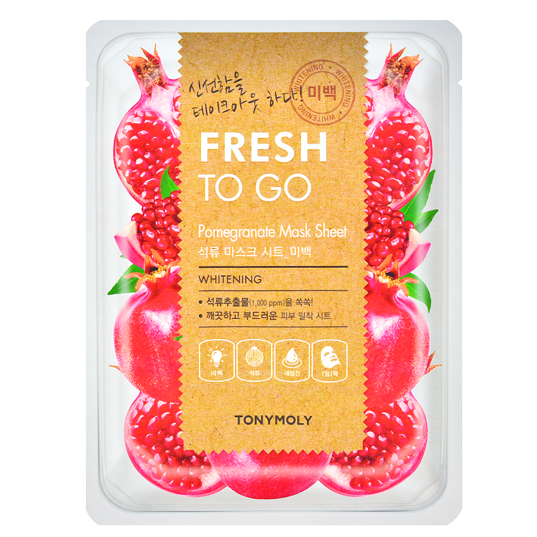 TONY MOLY Fresh To Go Pomegranate Mask Sheet -- Shop Korean Japanese Taiwanese Skincare in Canada & USA at Chuusi.ca