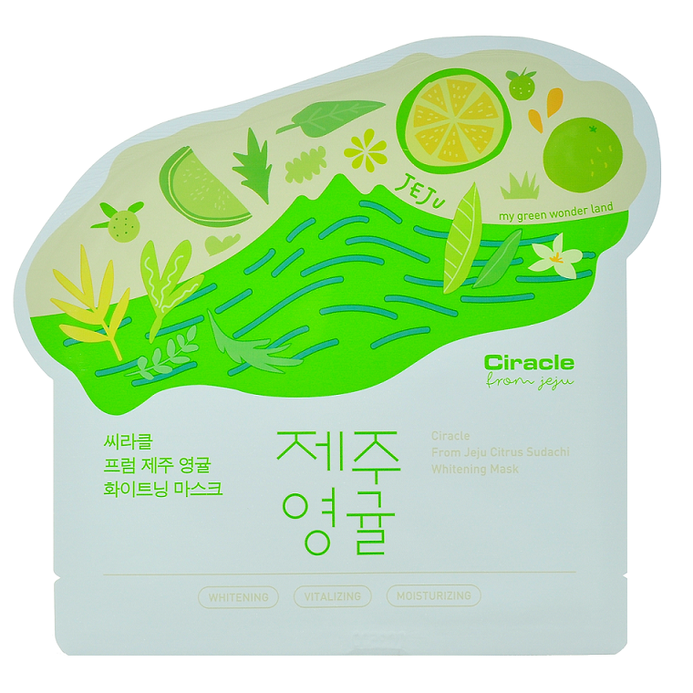 Ciracle - From Jeju Citrus Sudachi Whitening Mask | Chuusi | Shop Korean and Taiwanese Cosmetics & Skincare at Chuusi.ca - 1