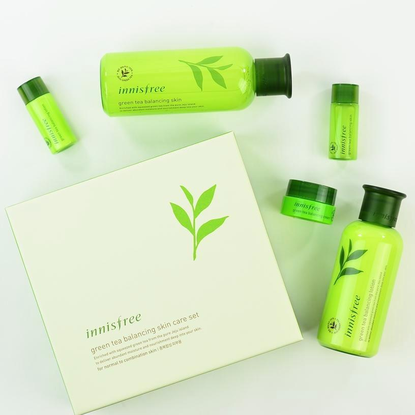 INNISFREE Green Tea Balancing Skin Care Set | Shop Innisfree Korean skincare cosmetics in Canada & USA at Chuusi.ca