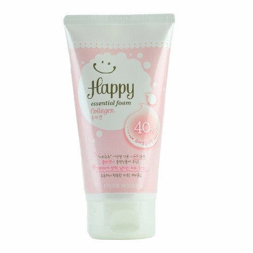 Etude House - Happy Essential Foam Collagen | Chuusi | Shop Korean and Taiwanese Cosmetics & Skincare at Chuusi.ca