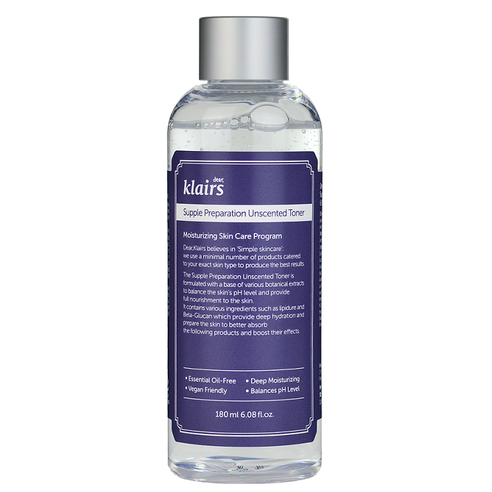 KLAIRS Supple Preparation Unscented Toner -- Shop Korean Japanese Taiwanese skincare in Canada & USA at Chuusi.ca