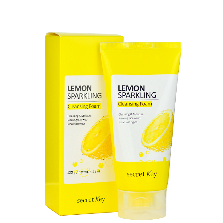 Secret Key Lemon Sparkling Cleansing Foam -- Shop Korean Japanese Taiwanese skincare in Canada & USA at Chuusi.ca