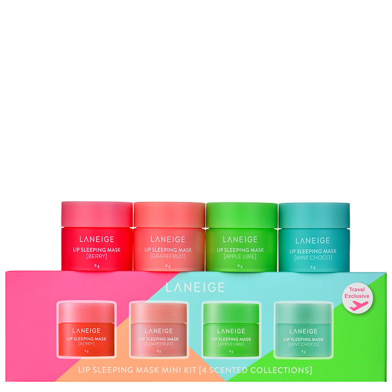 LANEIGE Lip Sleeping Mask Mini Kit (4 Scented Collections) -- Shop Korean Japanese Taiwanese skincare in Canada & USA at Chuusi.ca