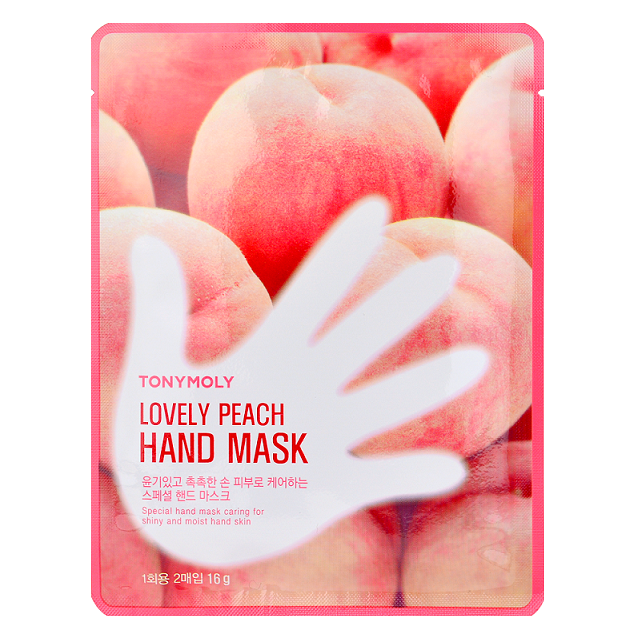 Tony Moly Lovely Peach Hand Mask -- Shop Korean Japanese Taiwanese skincare in Canada & USA at Chuusi.ca