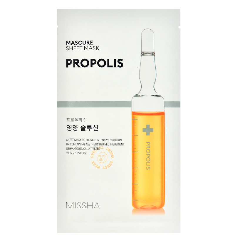 MISSHA Mascure Nutrition Solution Sheet Mask - Propolis -- Shop Korean Japanese Taiwanese Skincare in Canada & USA at Chuusi.ca