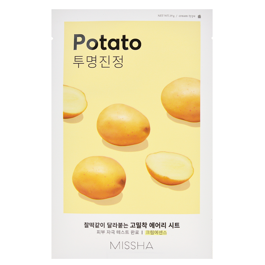 MISSHA Airy Fit Sheet Mask - Potato | Shop Korean Skincare in Canada & USA at Chuusi.ca