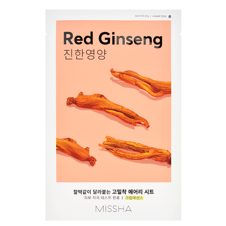 MISSHA Airy Fit Sheet Mask - Red Ginseng | Shop Korean Skincare in Canada & USA at Chuusi.ca