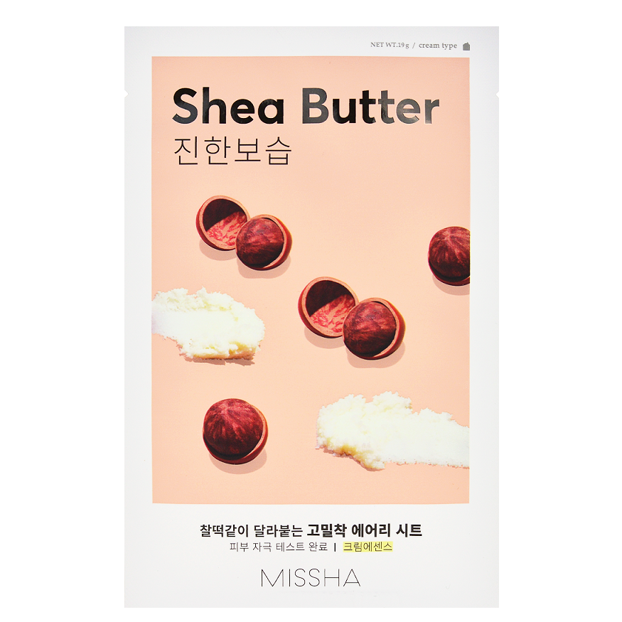 MISSHA Airy Fit Sheet Mask - Shea Butter | Shop Korean Skincare in Canada & USA at Chuusi.ca