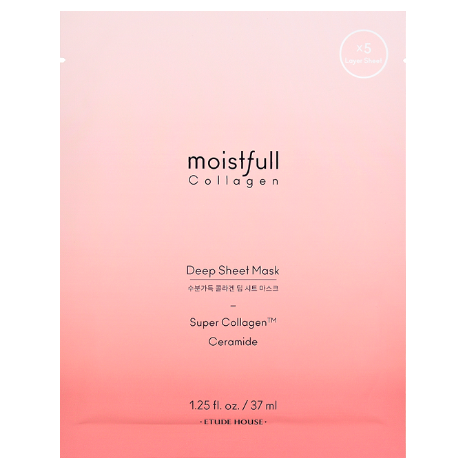 ETUDE HOUSE Moistfull Collagen Deep Sheet Mask -- Shop Korean Japanese Taiwanese skincare in Canada & USA at Chuusi.ca