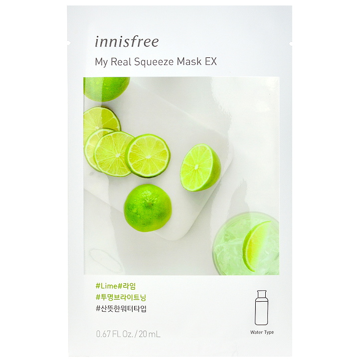Innisfree My Real Squeeze Mask EX - Lime -- Shop Korean Japanese Taiwanese skincare in Canada & USA at Chuusi.ca