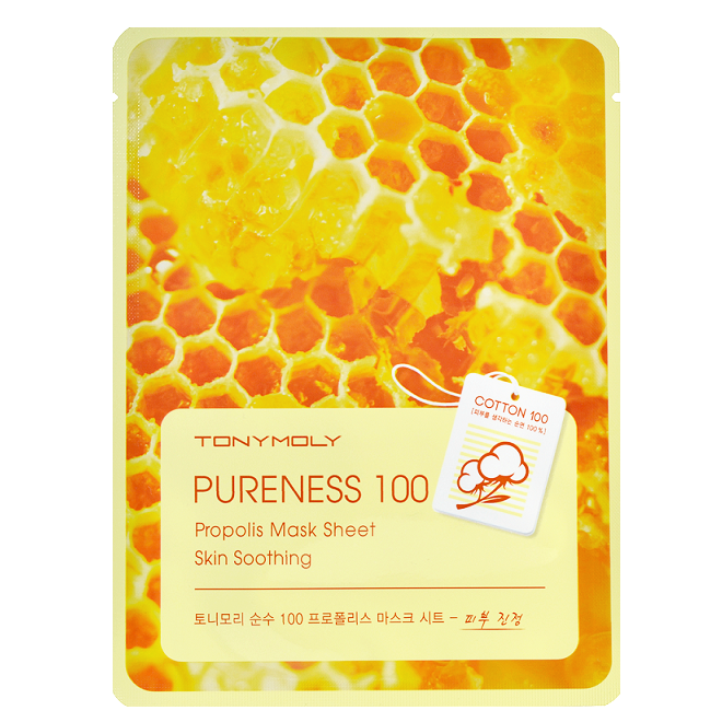 Tony Moly - Pureness 100 Propolis Mask Sheet | Chuusi | Shop Korean and Taiwanese Cosmetics & Skincare at Chuusi.ca