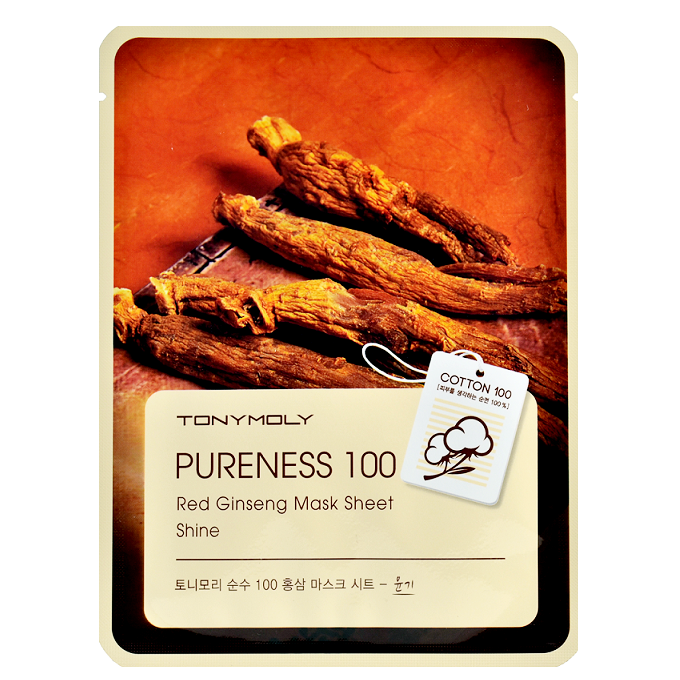 Tony Moly - Pureness 100 Red Ginseng Mask Sheet | Chuusi | Shop Korean and Taiwanese Cosmetics & Skincare at Chuusi.ca