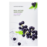NATURE REPUBLIC Real Nature Mask Sheet - Acai Berry | Shop Korean Sheet Masks in Canada & USA at Chuusi.ca