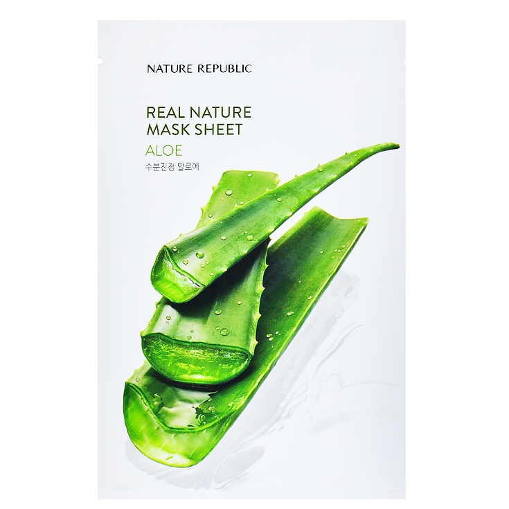 NATURE REPUBLIC Real Nature Mask Sheet - Aloe | Shop Korean Sheet Masks in Canada & USA at Chuusi.ca