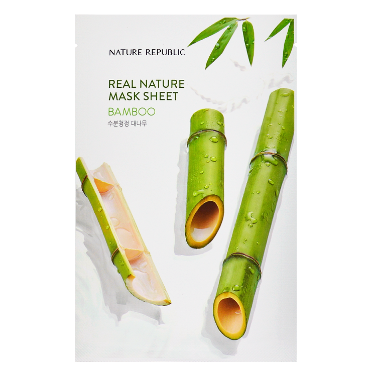 NATURE REPUBLIC Real Nature Mask Sheet - Bamboo | Shop Korean Sheet Masks in Canada & USA at Chuusi.ca