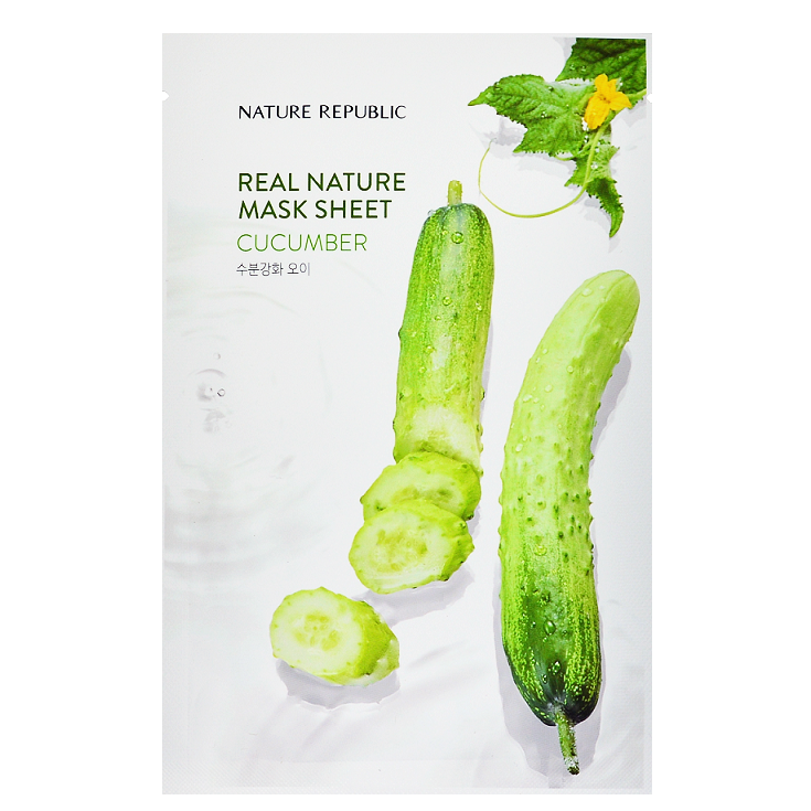 NATURE REPUBLIC Real Nature Mask Sheet - Cucumber | Shop Korean Sheet Masks in Canada & USA at Chuusi.ca