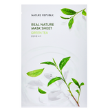 NATURE REPUBLIC Real Nature Mask Sheet - Green Tea | Shop Korean Sheet Masks in Canada & USA at Chuusi.ca