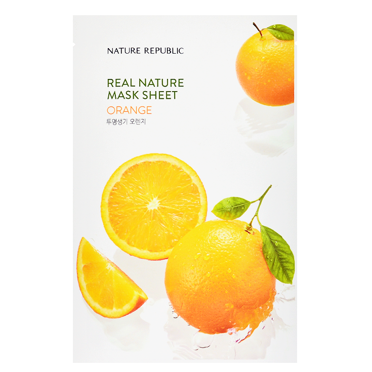 NATURE REPUBLIC Real Nature Mask Sheet - Orange | Shop Korean Sheet Masks in Canada & USA at Chuusi.ca
