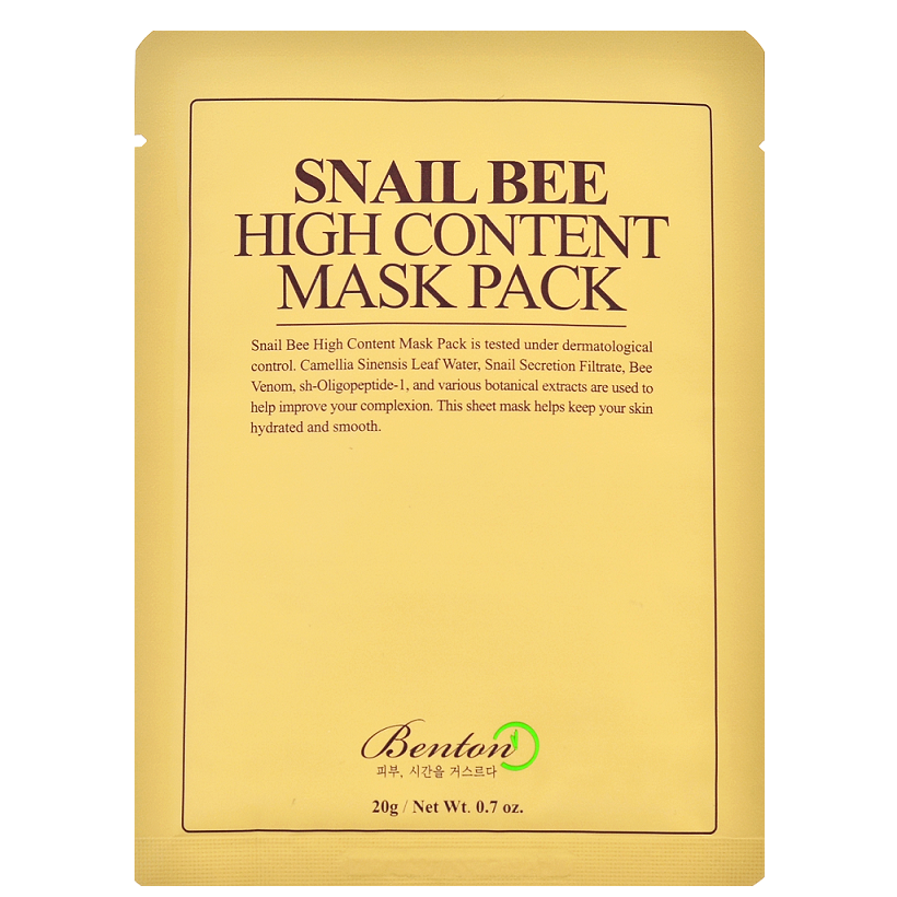 BENTON Snail Bee High Content Mask Pack | Shop Benton Korean skincare cosmetics in Canada & USA at Chuusi.ca