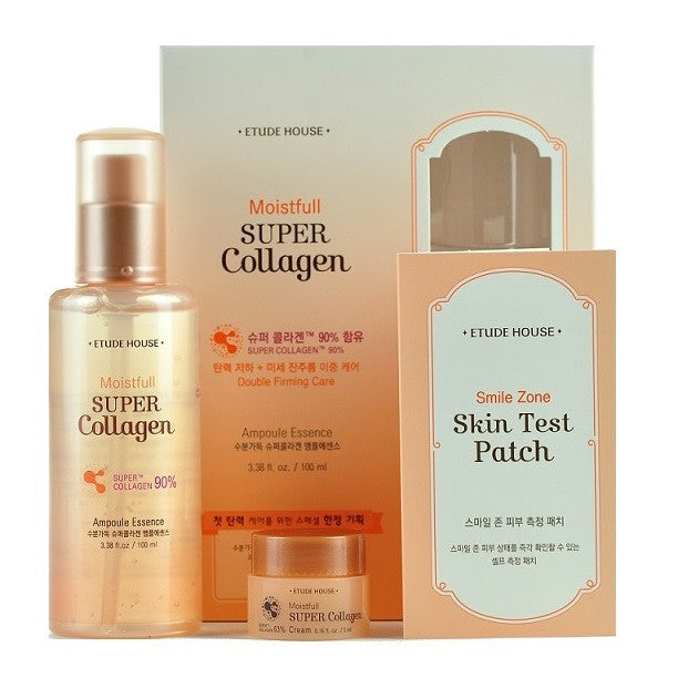 Etude House - Skincare Set: Moistfull Super Collagen Ampoule Essence | Chuusi | Shop Korean and Taiwanese Cosmetics & Skincare at Chuusi.ca