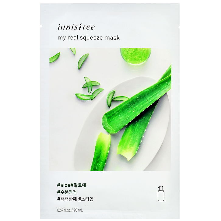 INNISFREE My Real Squeeze Mask - Aloe | Shop Innisfree Korean skincare cosmetics in Canada & USA at Chuusi.ca