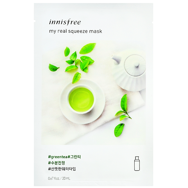 INNISFREE My Real Squeeze Mask - Green Tea | Shop Innisfree Korean skincare cosmetics in Canada & USA at Chuusi.ca
