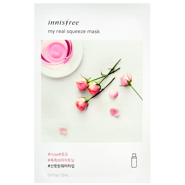 INNISFREE My Real Squeeze Mask - Rose | Shop Innisfree Korean skincare cosmetics in Canada & USA at Chuusi.ca