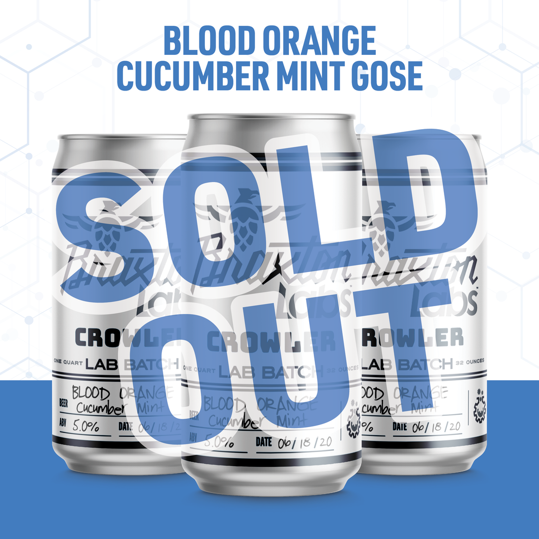 Braxton Labs Blood Orange Gose with Cucumber, Lime Zest & Mint