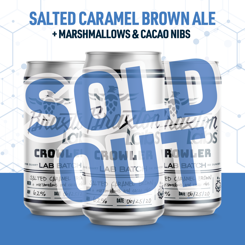 Braxton Labs Salted Caramel Brown Ale with Marshmallows and Cacao Nibs