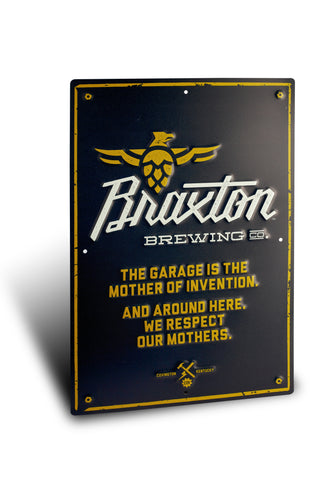 Braxton Tin Sign