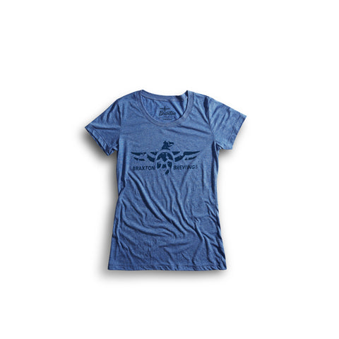 Women's Blue Swoop T-shirt