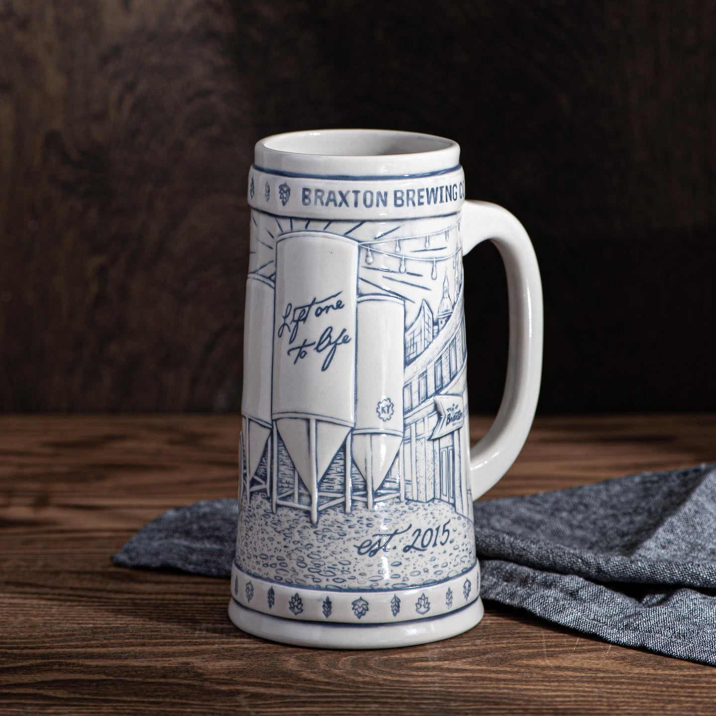 5th Anniversary Commemorative Rookwood Stein