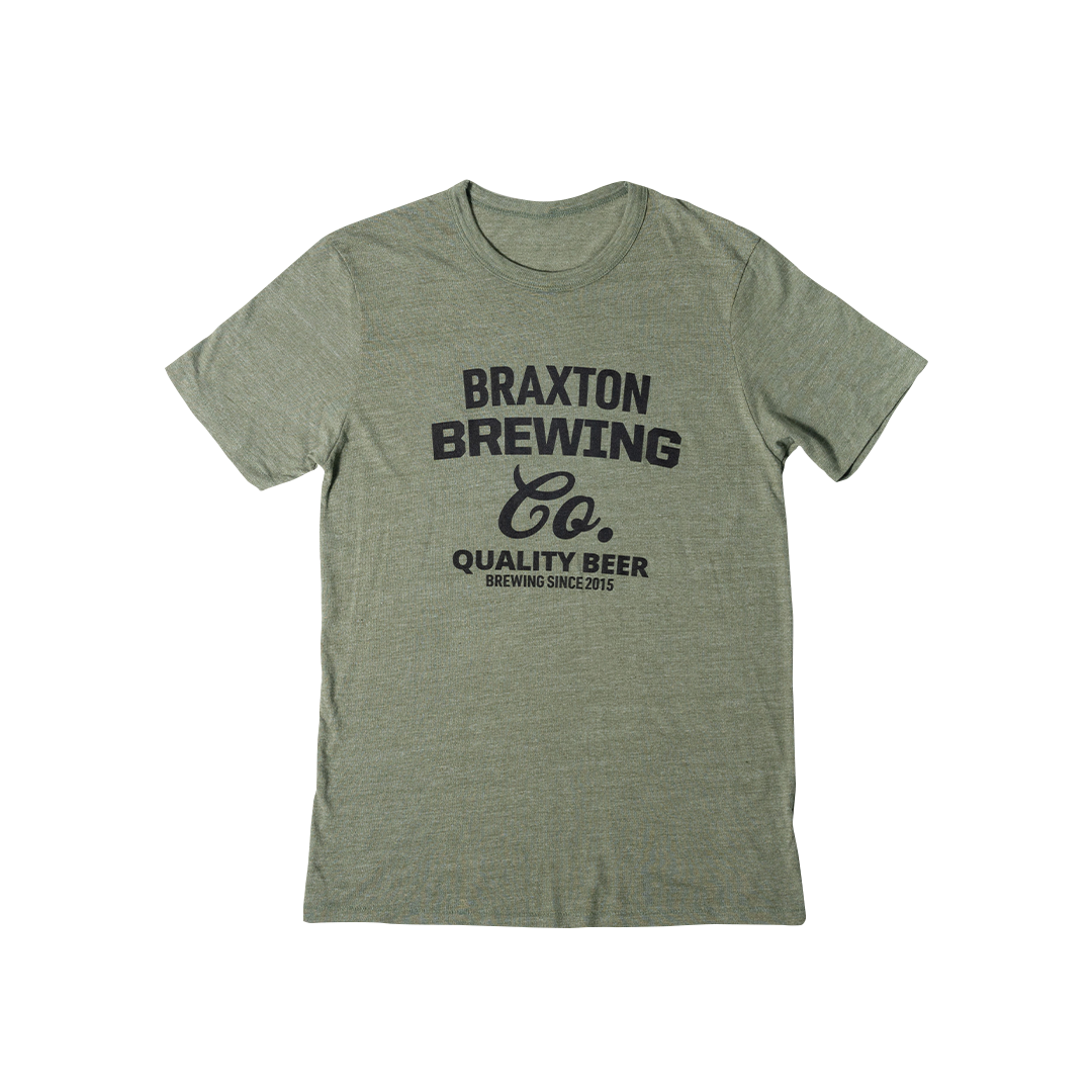 Olive Green Braxton Brewing Co T-Shirt