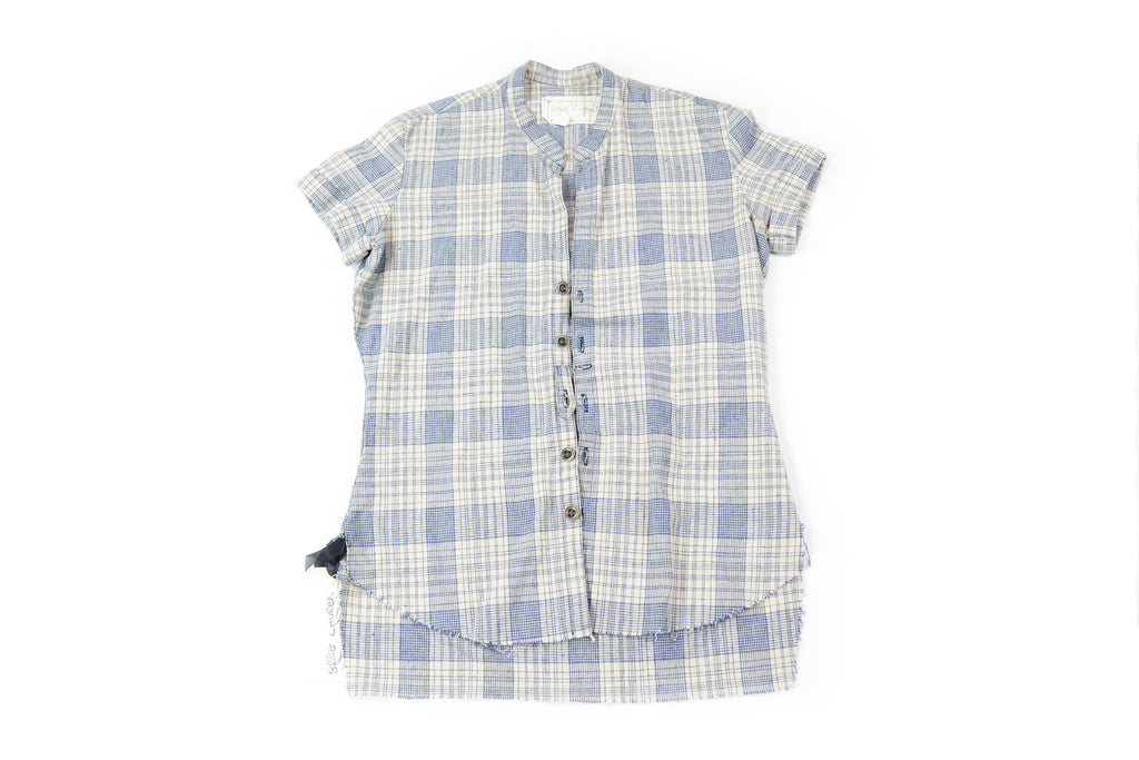 Greg Lauren Short Sleeve Flannel Shirt