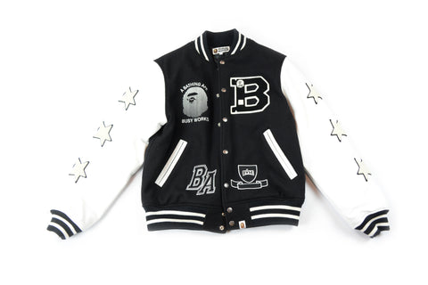 Bape Busy Works Varsity Jacket
