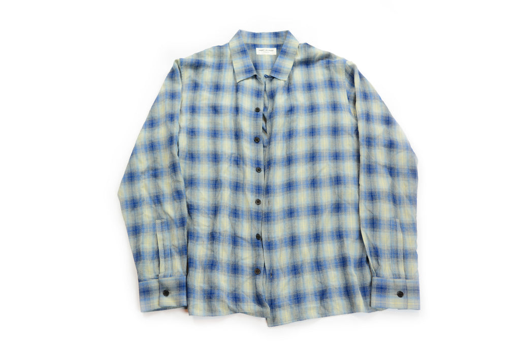 Saint Laurent Paris Flannel Shirt