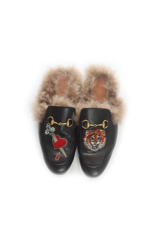 Gucci Princetown Fur Slippers