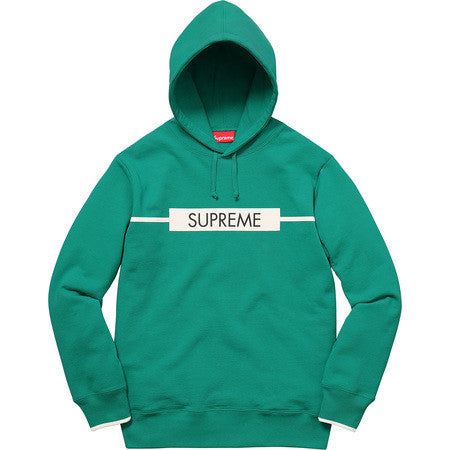 Supreme Chest Twill Tape Hooded Sweatshirt