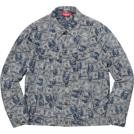 Supreme 100 Dollar Bill Trucker Jacket