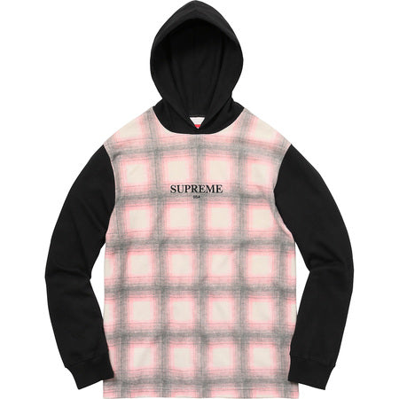 Supreme Shadow Plaid Hooded Longsleeve