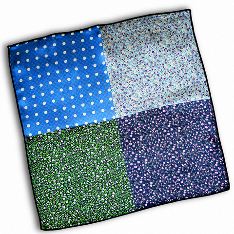 Silk 5-in-1 Floral & Polka Dot Pocket Square