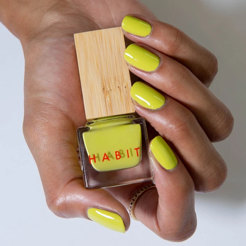 Lime to yellow coloured nails, from Habit Cosmetics. This is one of their new Spring/Summer 2021 colors.