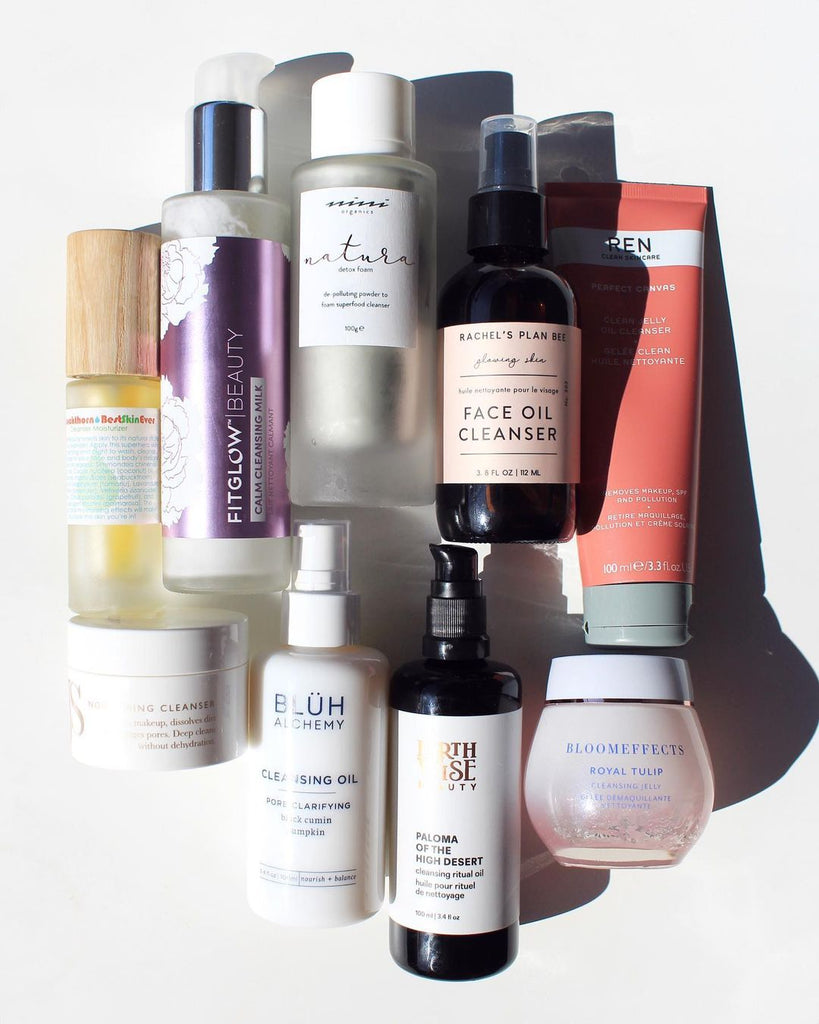cleanser, cleansing balm, cleansing oil, living libations, rachels plan bee, bluh alchemy, bloomeffects, ren skincare, jane scrivner, nini organics, fitglow beauty, earthwise beauty
