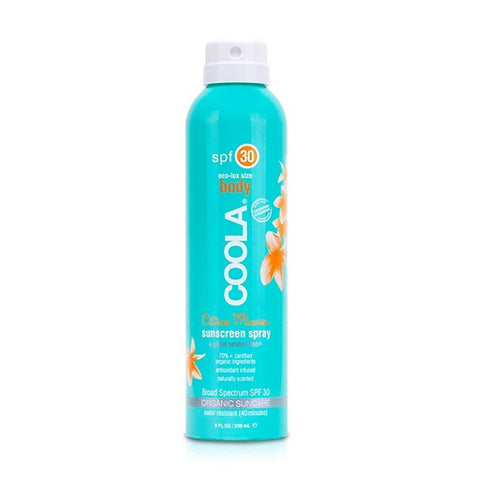 COOLA - Eco-Lux 8 oz Body SPF 30 Citrus Mimosa Sunscreen Spray